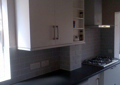 Kitchen sockets electrical installation