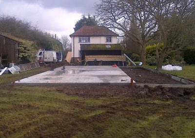 Groundwork for stables Suffolk